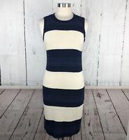 RALPH LAUREN Womens Dress XS Linen Blend Knit Sweater Sleeveless Stripe Nautical