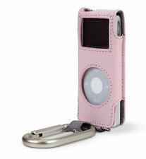 Belkin Leather Carabiner Case for Ipod Nano 1G 2G 1st 2nd Gen Pink F8Z057-PNK