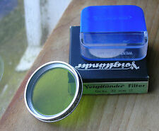 original Voigtlander 32mm chrome push fit slip on Green 4x  filter Gr