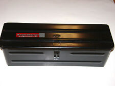 Steel BLACK TRACTOR TOOL BOX 5A3BL for Allis Case IH Kubota Massey White Oliver