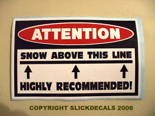 FUNNY SLED SUCKS WARNING SNOWMOBILE SNOCROSS RACE TRAIL SNOW STICKER DECAL 155