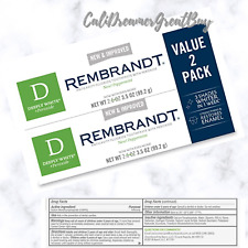 Rembrandt Deeply White + Peroxide Whitening Toothpaste Peppermint 3.5-Oz (2 Pk)