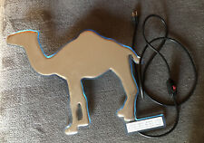 """New Camel Cigarettes Lighted Metal Sign 18"""" Tall 20"""" Long"""