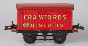Hornby O Gauge No.1 Private Owner Van Crawford's Biscuits Red