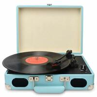 Vintage Turntable,3 Speed Vinyl Record Player-Suitcase/Briefcase Style