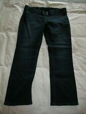Riders by Lee Pull On Blue Jeans Sz 16 M Slimming Dark Denim Straight Leg Womens