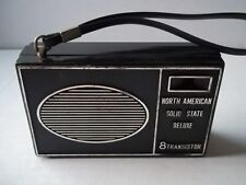 North American portable Am radio. Works, but volume crackles. Sold As-Is. Preown