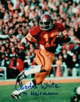 "Charles White Signed Autographed 8X10 Photo USC ""79 Heisman"" Action Shot w/COA"