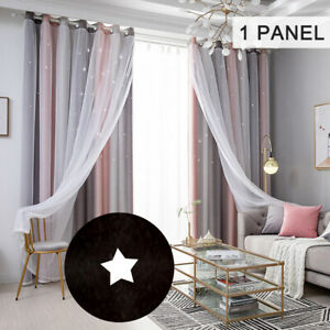 Star Curtains Stars Blackout Curtains for Kids Girls Bedroom Living Room W0D7