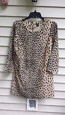J.CREW Jules Dress in Wildcat Leopard Animal Print Tan Shift Style Size 2