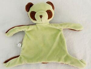 GREEN SPROUTS Green Brown Sleeping Teddy Bear Lovey