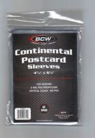 (1000) BCW Continental Postcard Sleeves Archival Safe Larger 4 3/8 x 6 1/4 Size