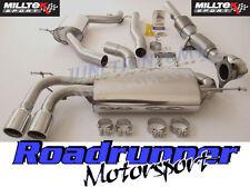 Milltek Scarico A3 2.0 T FSI 2wd 3 PORTE Turbo indietro Consonanza & Race CAT TUBI DI SCOLO