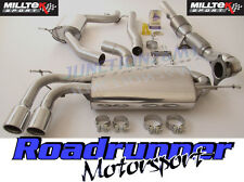 Milltek de escape A3 2.0 T FSI 2wd 3 puerta Turbo atrás atractivo & Race Cat Bajante