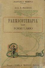MANUALE HOEPLI FARMACOTERAPIA CON FORMULARIO DOTT. P. PICCININI