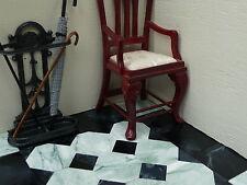 "100 Marble-esque 1 12th 1"" Black & Green Marble Effect Dolls House Floor Tiles"