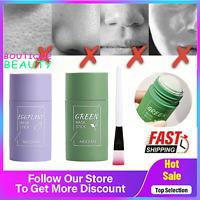Green Tea Eggplant Purifying Clay Stick Mask Oil Control Anti-Acne Fine Solid U=