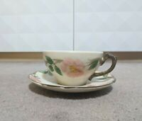 Franciscan Desert Rose Cups and Saucer, Made in USA, Older Marks