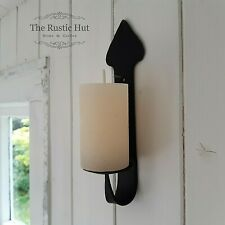 Gothic Iron Wall Sconce Candle Holder for Mini Pillar Candle