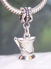 Spool of Thread Needle Yarn Sewing Craft Dangle Bead for European Charm Bracelet