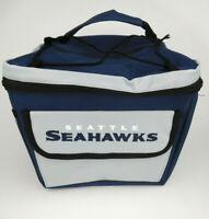 Seattle Seahawks Insulated Cooler Lunch Box Blue Gray Fan Gift NFL Football New