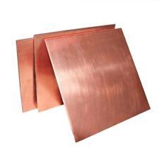 US Stock 2mm x 100mm x 100mm 99.9% Pure Copper Cu Metal Sheet Plate