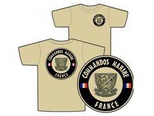 """..:: T-shirt ::.. TAN """" COMMANDOS MARINE - FRANCE """" S/M/L/XL/XXL COS NAGEUR CRAP"""