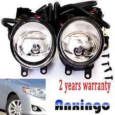 FOR 2009-2010 Toyota Corolla Front Bumper Fog Lights Lamps+Switch Clear Lens NEW