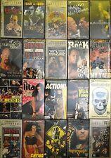Lot of 20 WWE WWF New Wrestling VHS Video Tapes unforgiven 2000 Rock Bottom More