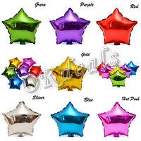 """2Pcs18 """"Zoll-Folien-Stern-Ballon-Helium-metallisches Hochzeits-Geburtstags-Party"""
