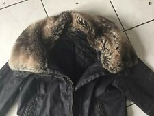 Blouson manteau PIMKIE Taille 40/42 marron col fourrure