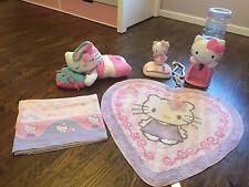 Hello Kitty Girls Bedroom Decor Rug Water Bar  Plush Doll  Phone  Flat Sheet