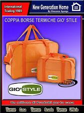 Borsa termica set 2 pezzi Gio'Style Fiesta  6,3 e 25,1 litri colori assortiti