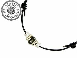 LEATHER BEADED SURFER TRIBAL DOUBLE CHOKER NECKLACE ANKLET YIN YANG YOGA GIFT