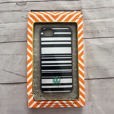 Dabney Lee iPhone 6 White Blue Slim Plastic Snap Striped Phone Case