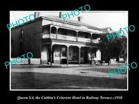 OLD LARGE HISTORIC PHOTO OF QUORN SA, VIEW OF THE CUBBINS CRITERION HOTEL c1930