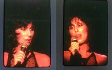 (Lot of 2)   CHER 35mm SLIDE TRANSPARENCIES in Concert December 1979
