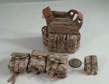soldier story navy seal gunner vest n 4 pouches 1/6 toys dragon bbi gi joe dam