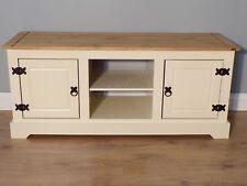 649d0cec37e Corona Cream Painted TV 2 Door Media Flatscreen Unit by Mercers Furniture