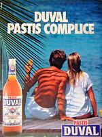 PUBLICITÉ DE PRESSE 1987 DUVAL PASTIS COMPLICE - ADVERTISING