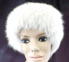 FOX FUR HEADBAND Genuine by Hatband Headwear White Adjustable