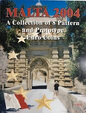 2004 ~ MALTA ~ EURO COLLECTION ~ 8 PATTERN AND PROTOTYPE COINS