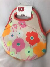 BUILT NY Gourmet Getaway Insulated Reusable Hot Cold Lunch Bag Tote Floral