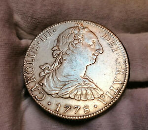 Amazing America's First Dollar * Mexico 1778-Mo FF 8 reales * High Grade