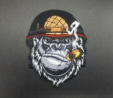 Parche gorila cigar Soldado patch iron sew custom war animal gorila gorilla mono