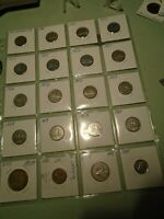 12 CANADIAN NICKELS 1940~1960 /LOON DOLLAR /QUARTER/ DIME /1960 CENT~ 20 COIN LO