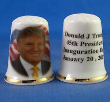Birchcroft China Thimble -- Donald Trump Inauguration  with Free Dome Gift Box