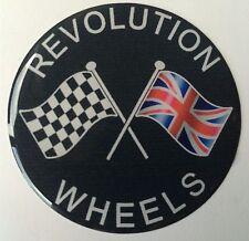 70 mm Revolución ruedas de Rueda de cúpula de resina de bandera cruzada Mini Ford Escort