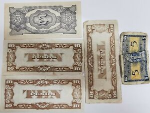 Bundle 5 UNC Banknotes Military 2ème Guerre. Ref63626