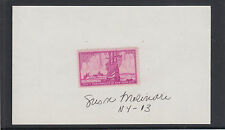 Susan Molinari, US Representative from New York, signed card, 3c NY City stamp